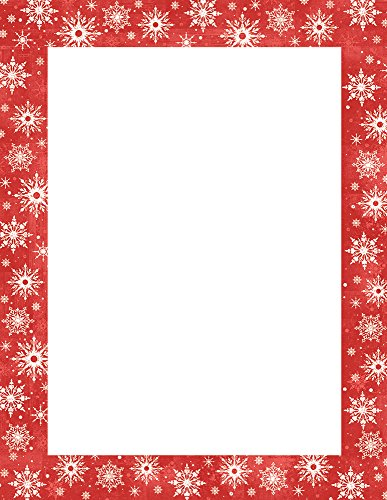 "Great Papers! Snowy Flakes Letterhead, 25 count, 11"" x 8.5"" (20103022)"