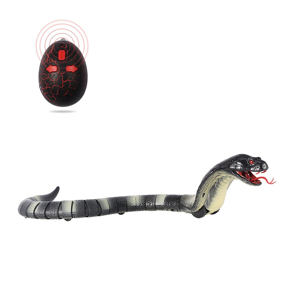 Greatstar Remote Control Snake Toy for Kids 17.5 Inch Rechargeable Realistic Cobra Snake King Naja Toy for Christmas Hallowene Gift