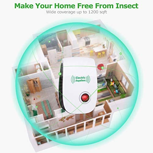 2020 Newest Ultrasonic Electronic Pest Repellent, Pest Repeller Plug in Indoor Usage, Best Pest Repell to Bugs, Insects Mice, Ants, Mosquitoes, Spiders, Rodents and Roach(6 Packs) 51j9jVkpl8L