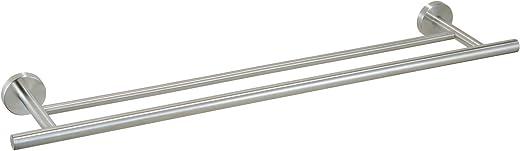 Ribelli Handtuchhalter 2-armig, doppelte Handtuchstange Edelstahl mit ca. 60 + 70 cm Länge - 2 Stangen für Handtücher Badstange als Badetuchhalter...