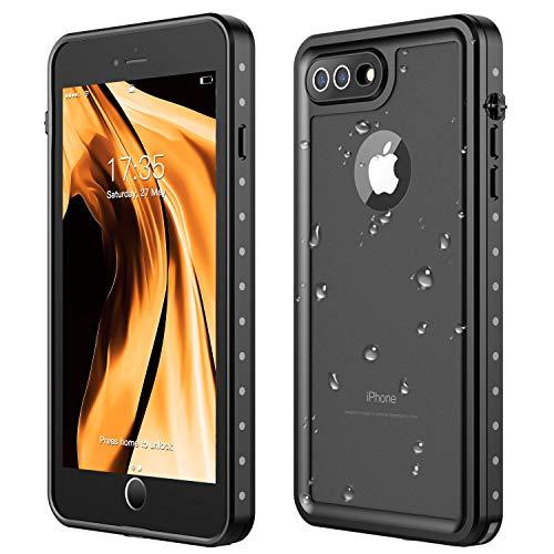 AJIA iPhone 7 Plus Waterproof Case,iPhone 8 Plus Waterproof Case 360° Full Body Protection IP68 Underwater Shockproof Dirtproof Sandproof Waterproof Case for iPhone 7 Plus/iPhone 8 Plus(5.5') (Best Iphone 7 Plus Waterproof)