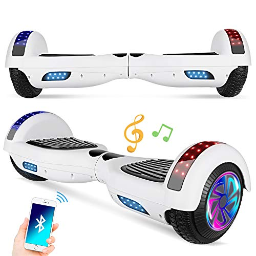 Spadger Hoverboard,6.5″ Self Balancing Hover Board Electric Scooters for Kids Adults with UL2272 Certified Built- in Bluetooth Speaker and Free Carry Bag
