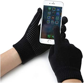 Anslyqa Knit Wool Lined Texting Touchscreen Gloves