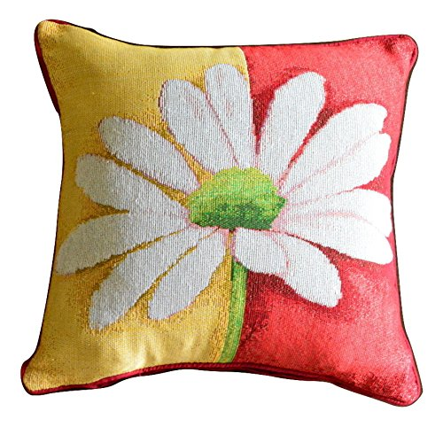 Colorful Floral Spring Decorative Throw Pillow