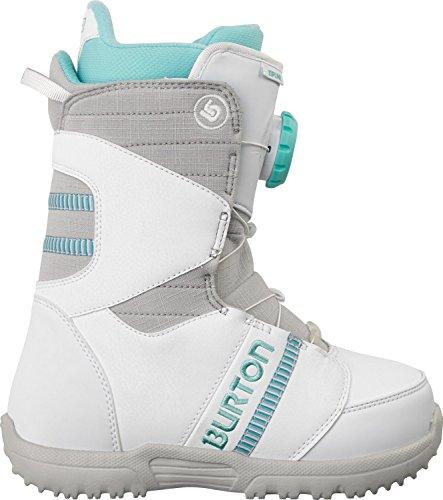 Burton Zipline Snowboard Boots White/Gray/Teal Sz 7 Kids (Burton Speed Dial compare prices)