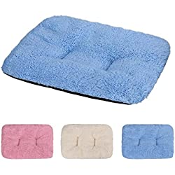 vmree Pet Cushion, 3137cm Soft Cat Bed Dog Soft Warm Blanket Sleep Mat (Blue)