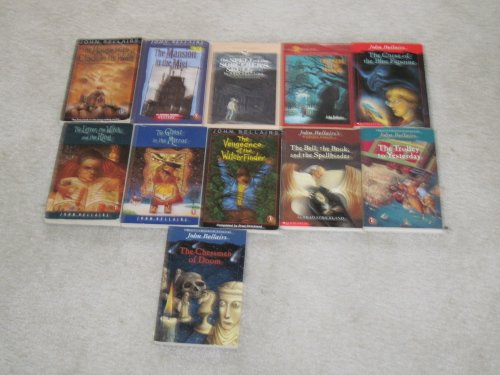 11 JOHN BELLAIRS books [Chessmen Doom, Letter,Witch & Ring/Curse Blue Figurine/Figure in Shadows/Spell of Sorcerers Skull/House with Clock in Walls/Mansion in Mist/Ghost in Mirror/Trolley to Yesterday/Bell, Book Spellbinder/Vengeance of Witch-Finder]