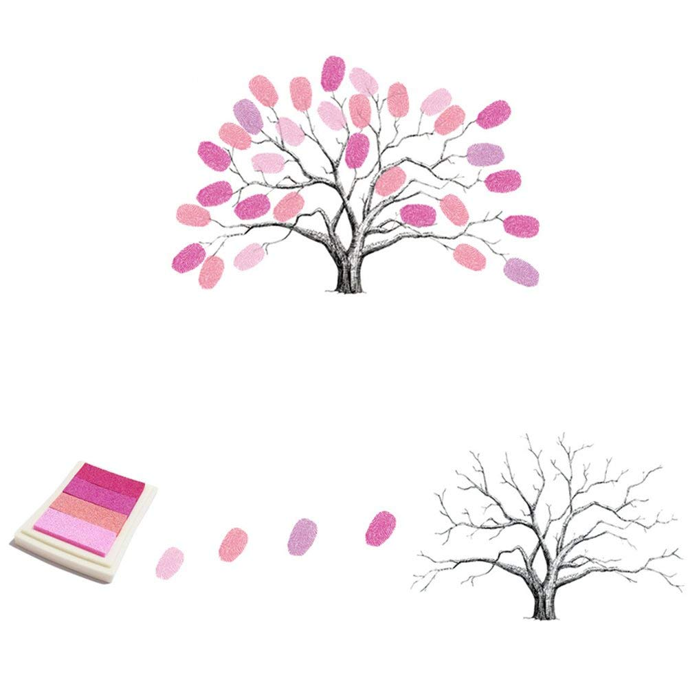 Ogquaton /Árbol de la Firma de la Lona del /árbol de la Huella Digital Libro de la Firma de la hu/ésped de la Fiesta de cumplea/ños de la Boda