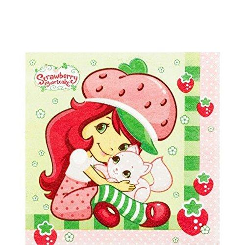 Amscan Mens Strawberry Shortcake Lunch Napkins Black (Strawberry Costume Man)