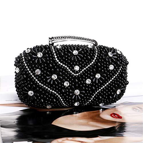 couleur En Banquet Les Or Soirée Élégant Noir Mode Femmes Dame Sac Mariages Perles Pour De Zhiwenshangmao Main Le Banane Convient Shopping À Fêtes P4nW7Rq0Ww
