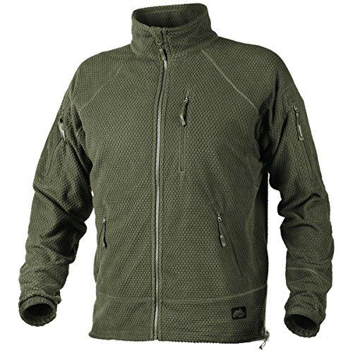 - Helikon Men's Alpha Tactical Jacket Grid Fleece Olive Green Size M