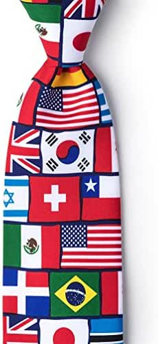 International Flags Red Microfiber Tie