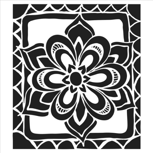 Crafters Workshop Template, 6 by 6-Inch, Zen Flower - Zen Flowers