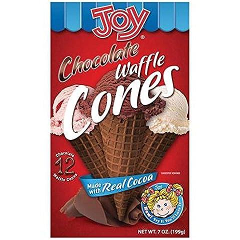 Joy Ice Cream Chocolate Waffle Cones ~ 12 count (Pinky Marie)
