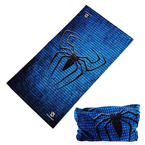 bDSof0u89yw Spider Outdoor Cycling UV Protection Half Face Mask Neck Gaiter Balaclava Scarf Multifunctional for Music Festivals, Raves, Riding, Outdoors