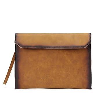 Cartera para hombre de los bolsos del bolso de hombro de la PU de cuero para la oficina Messenger: Amazon.es: Deportes y aire libre
