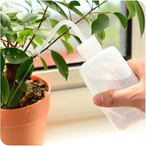sxbest 2 Pack Plant Flower Succulent Watering Bottle Plastic Bend Mouth Watering Cans Squeeze Bottle-(500ML,2pcs)