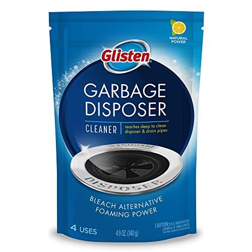 Glisten Disposer Care Foaming Drain/Pipe Cleaner, 4 Uses, White, Blue, 4.9 oz