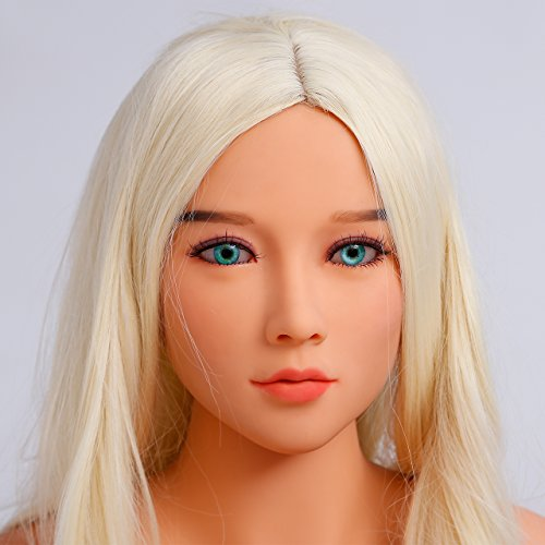 LoveXRobot Sex Doll Head, for140cm 158cm 168cm Sex Robot Doll Lifelike Real Oral Ass Anal Vagina Sex Male Toy,sex doles for man (A Head)