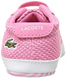 Lacoste Girls' L.12.12 Crib Shoe, Pink/White, 2