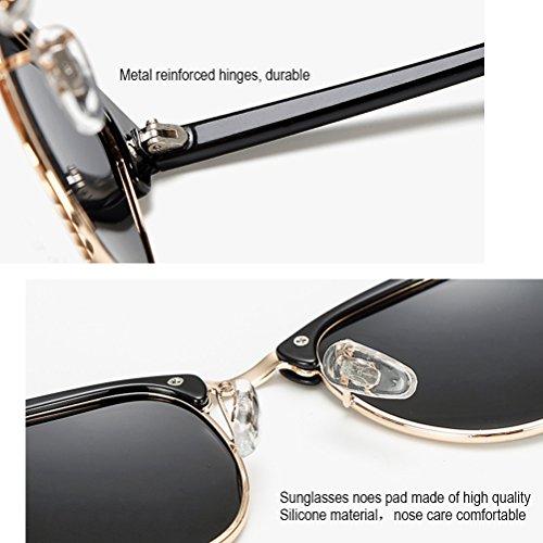 Frame Gafas Black sol Polarizadas 400 Lens superlight Protection Hombres Sand Silver Zhuhaijq UV Moda de Sol Mujer Gafas for De qFqzT