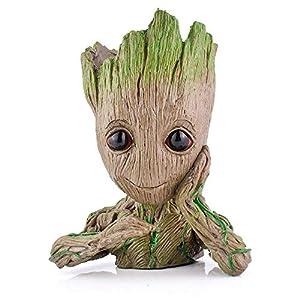 Groot Action Figures Guardians of The Galaxy Flowerpot Baby Cute Model Toy Pen Pot Best 6.3