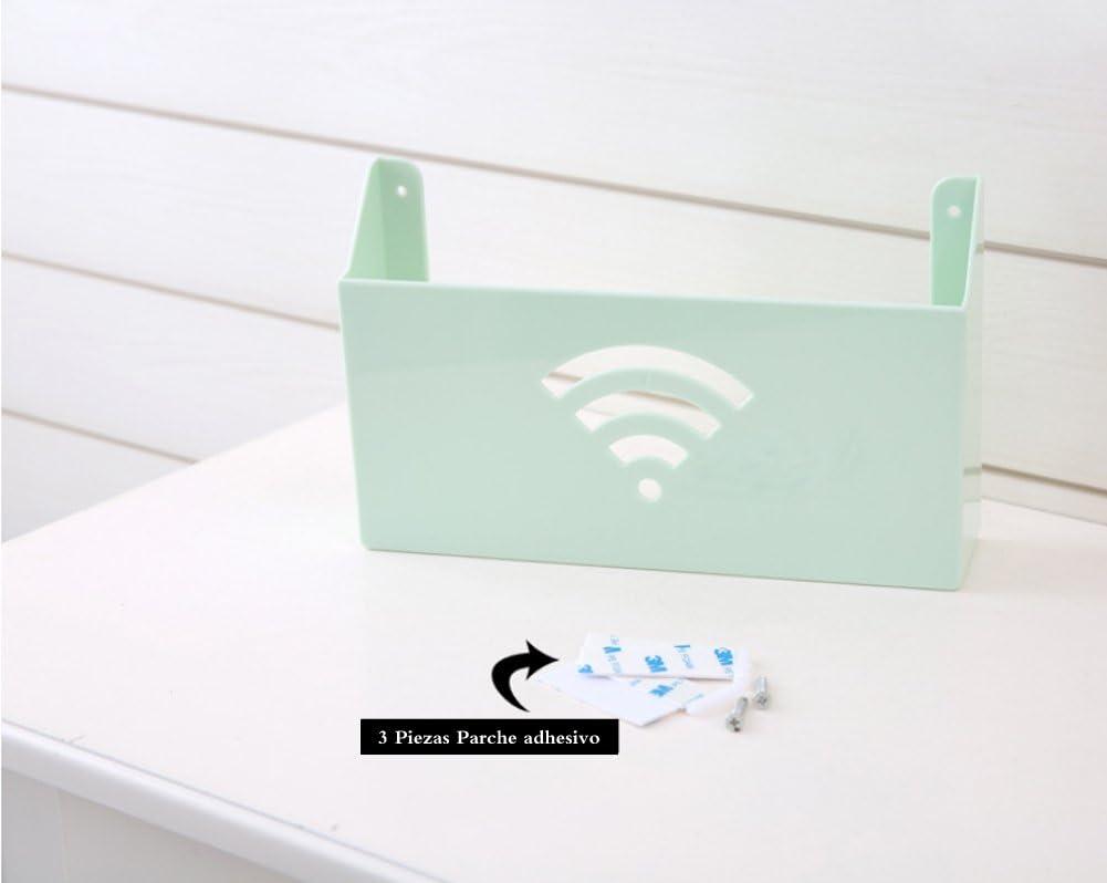 Color Blanco Uotyle Tres Capas Soporte de Pared para Router Wi-Fi