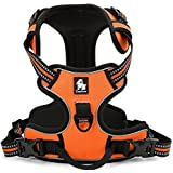 Best Front Range No-Pull Dog Harness. 3M Reflective Outdoor Adventure Pet Vest with Handle. 3 Stylish Colors and 5 Sizes.
