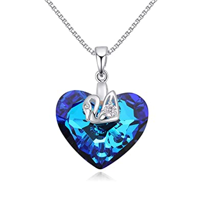 751a35cc Amazon.com: White Gold Plated Cute Duck Claw Wrap Heart of The Ocean ...