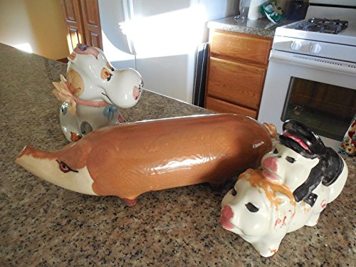 Heavy Pottery (3 Heavy Pottery Animals Cow; Pig; Biker Boy Girl Pig Mating)