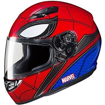 HJC Marvel Unisex-Adult Full Face CS-R3 Spiderman Homecoming Helmet (Mic-1 Red/Blue, Medium)