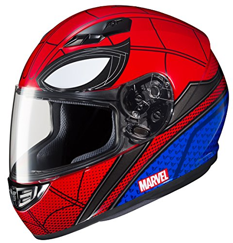 HJC Marvel - Casco integral unisex para adulto CS-R3 Spiderman (Mic-1 rojo/azul, mediano)