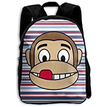 Cute Monkey Emojis Pattern School Bag For 2-6 Years Old