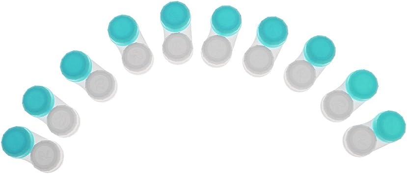 P Prettyia 10x Caja de Lentes de Contacto, Kit de Viaje, Estuche Lentillas, Botella de Solución: Amazon.es: Salud y cuidado personal