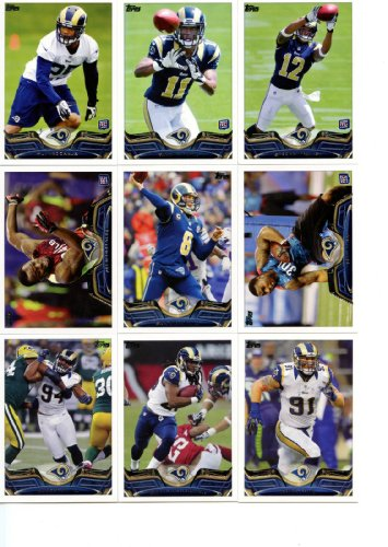 St. Louis Rams 2013 Topps NFL Football Complete Hand Collated Regular Issue 15 Card Team Set Including a Tavon Austin Rookie Card, Sam Bradford, Chris Long, James Laurinaitis and Others ()