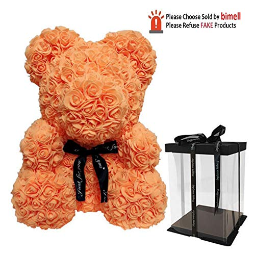 Escolourful Rose Bear Teddy Bear Cub Forever Artificial Rose Anniversary Birthday Valentines Gift(9