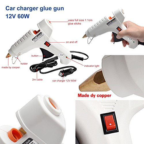 Fly5D 40w 12v Hot Melt Glue Gun for Car Body Paintless Dent Repair Industrial Home Arts & Crafts Use by Fly5D (Image #1)