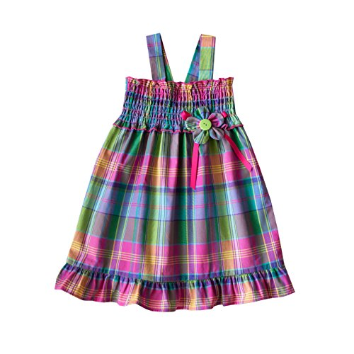 Good Lad Toddler Girls' Pink Cotton Plaid Sundress, Pink Plaid, 3T