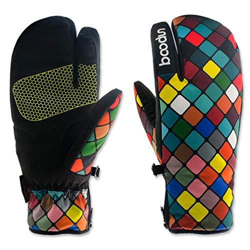 Women Men Ski Gloves Windproof Winter Outdoor Snowboard Gloves H Warmers Skiing Mountaineering Snow 3 S