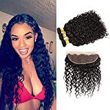 Bleaching Hair Makes It Thicker - Water Wave Bundles with Frontal 100 Brazilian Human Hair Ear to Ear Closure 13x4 Grade 7A Unprocessed Virgin Hair Extensions Long Weave 22 24 26+20 Inch