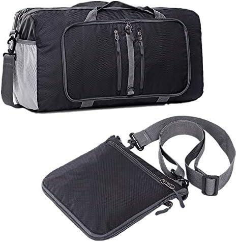 メンズ荷物袋 メンズファッションナイロン軽量収納可能トラベルボストンバッグ防水荷物トートバッグ旅行ショルダーバッグ特大ユニセックスビジネストラベルバッグ 柔らかく快適な耐摩耗性 (色 : Blue, Size : 52x20x30cm)