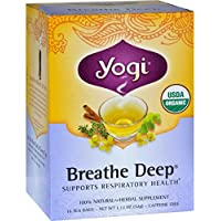 6 Pack Yogi Breathe Deep Tea Bags 16 Count