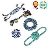 BATURU Pets Dog Cat tug of war Toys cleans teeth 100%Cotton rope balls cord non-toxic safety favourable sales colors package integration (Set of 5)