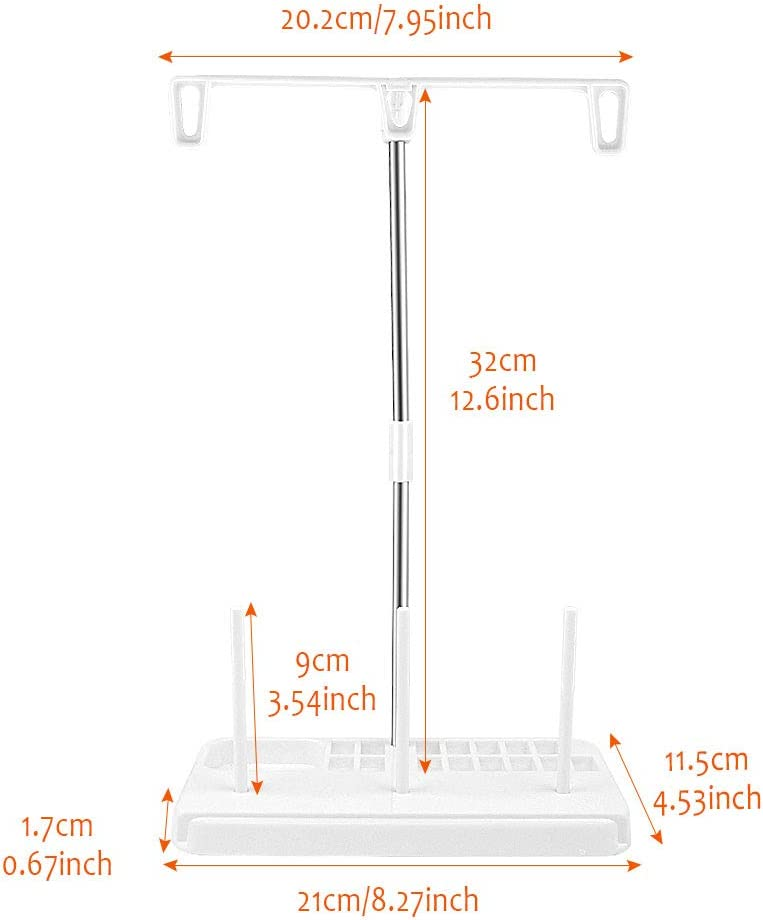 2 PCS Three Cones Spool Stand Sewing Thread Holder Spool Stand Spool Holder for Sewing Machine Domestic Embroidery