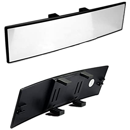 Fit Most Car SUV Truck JDM 300mm Wide Curve Interior Clip On Rear View Mirror
