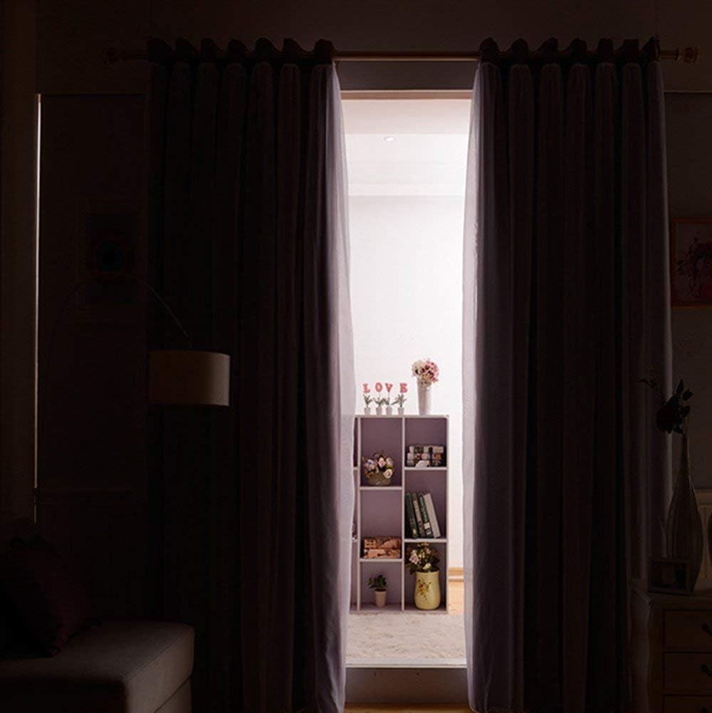 Dekorative f/ür Wohnzimmer Schlafzimmer 2er Set Verdunkelungsvorh/änge kinderzimmer K/älteisolierende Gardine Winddicht Vorh/änge mit /Ösen SearchI Vorhang Blickdichte aus Voile 175cmx140cm, Blau