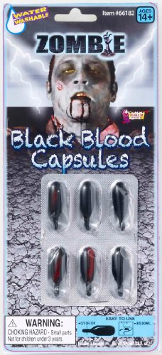Rubie's Costume Zombie Black Blood Capsules