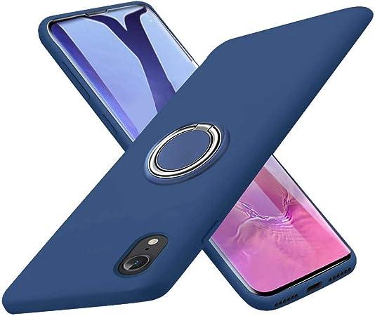 Kadixini Iphone Xr Hülle Soft Silikon Hülle Ultra Dünn Tpu Bumper Case 360 Grad Ring Stand