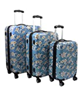 Tropical Flower 3-Piece Expandable Hardside Spinner Luggage Set