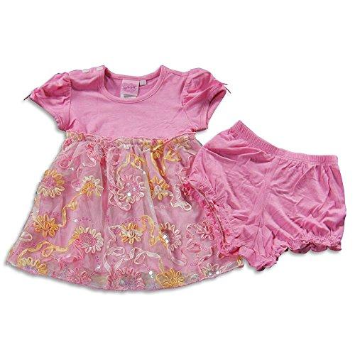 (Lipstik - Baby Girls Short Sleeve Dress Set, Pink)